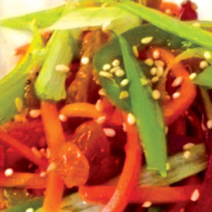 Asian Rainbow Ribbons Salad