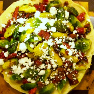 Bacon & Brussels Skillet Pizza