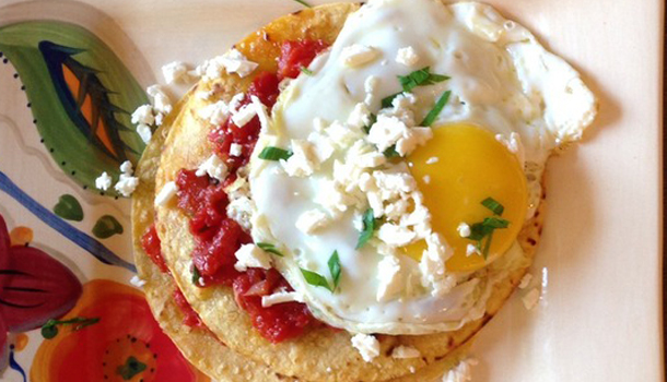 Stacked-Tostada-Arrabbiata-with-Fried-Eggs